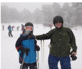 Achieved his dream of skiing with his son!